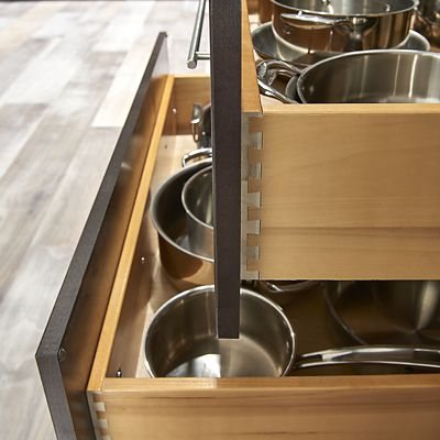 Wolf Cabinetry, dovetail drawers