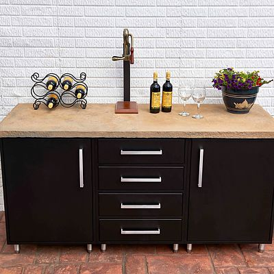 Wolf Endurance outdoor cabinetry black buffet