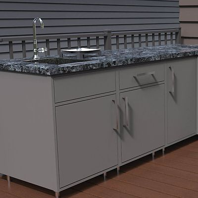 Wolf Endurance outdoor kitchen prep sink