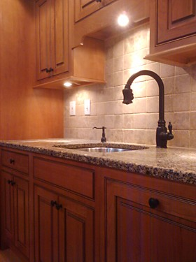 Sink Area in Boston, MA Kitchen designed by Lisa Zompa