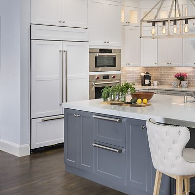Canton kitchen, closer look at refrigerator and refrigerated drawers, Lisa Zompa designer