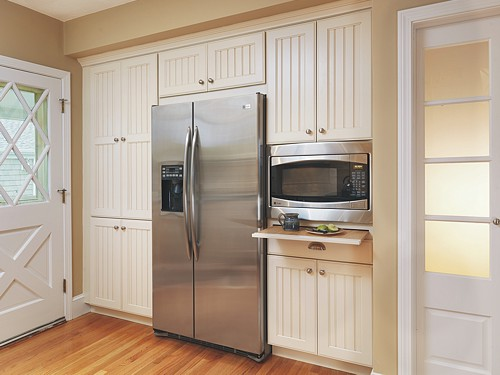 Small Appliance Storage in North Kingstown, RI kitchen designed by Lisa Zompa