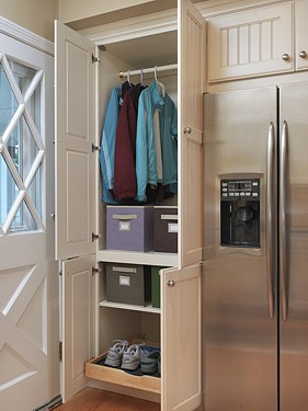 Custom Closet in East Greenwich, RI Kitchen designed by Lisa Zompa