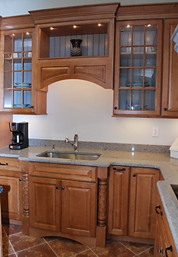 Schrock Cabinet In Kitchen Views Warwick, RI Showroom Display
