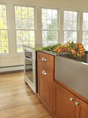 Sink and Dishwasher in North Kingstown, RI Kitchen designed by Lisa Zompa