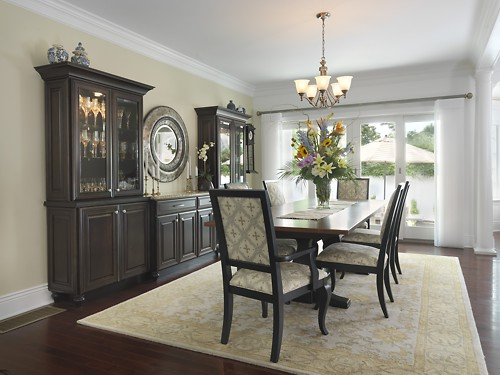 Pawtucket, Rhode Island dining room designed by Lisa Zompa