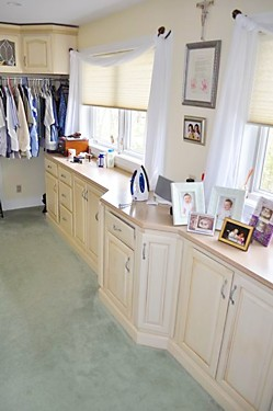 Dressing Room Closet in Rhode Island - designed by Lisa Zompa